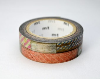 """Limited Edition mt Japanese Washi Masking Tape Vol.2 - """"mt tapes on wood"""" 15mm wide for scrapbooking, packaging"""