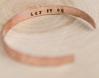 Custom thin Copper Cuff | Handmade Cuff | Custom Hammered | Statement Cuffs | Words to Live By | Daily Reminders | Personalized Gifts
