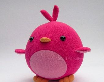 Pink Bird Plush Toy - Rosalie by Stuffed Silly