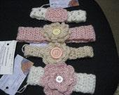 Hand crochet children's headbands.