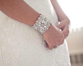 Wedding Bridal Beaded Bracelet Cuff
