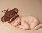Newborn Baby Hat Monkey Hat Photography Prop