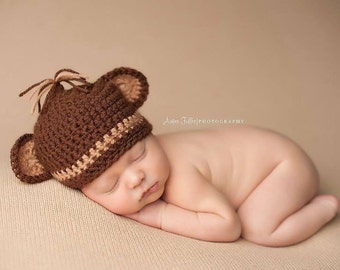 Newborn Baby Hat Monkey Hat Photography Prop