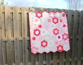 Baby Quilts for Sale / Girl Quilts / Nursery / Heirloom / Crib Bedding / Custom Quilts / Baby Shower / Vintage Roses Style / READY TO SHIP