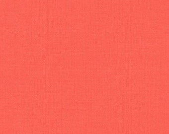 monaluna - coral red solid-Organic Cotton Fabric - low shipping