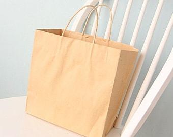 10 kraft shopping bags -medium size