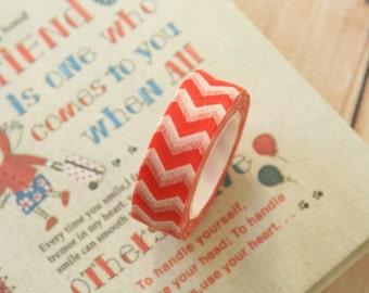 colorful RED CHEVRON washi masking tape