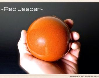 Large Red Jasper Chakra Sphere.