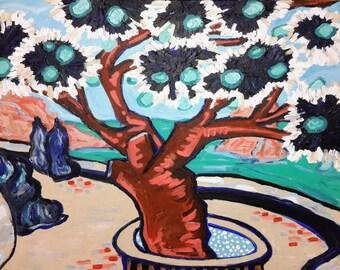 Island of Hydra, Greece - original painting by artist Katie Jurkiewicz