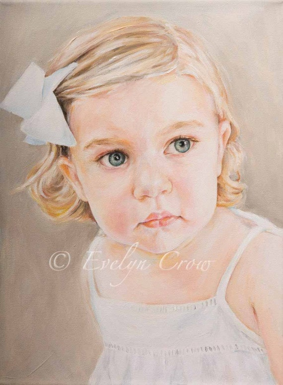 "Oil Painting - Custom Portraits from Your Photos - Child Portrait  16"" x 12"" (Head and Shoulders)"