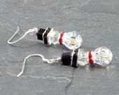 Crystal Snowmen Earrings, Dangling Earrings