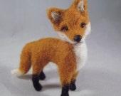 Needle Felted Fox, Fox Art, Needle Felted Animal, Woodland Animal, Fox Gift