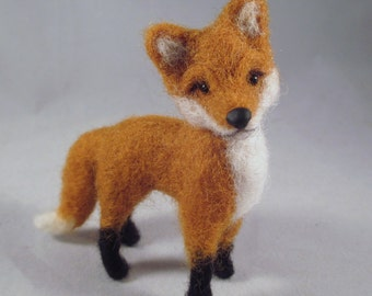 Needle Felted Fox, Fox Art, Needle Felted Animal, Woodland Animal, Fox Gift, Fox Decor, Felted Wool Fox, Felted Animals, Felt Animals, Fox