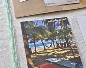 Paradise Found, 4.2x5.5in recycled paper photograph card, inspired by Costa Rica