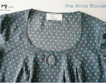 the Anna Blouse - PDF Pattern