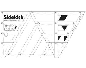 SIDEKICK Ruler - Jaybird Quilts - Diamonds Ruler - 60 Degree Triangle Ruler - Half Triangle Ruler - Quilter's Template