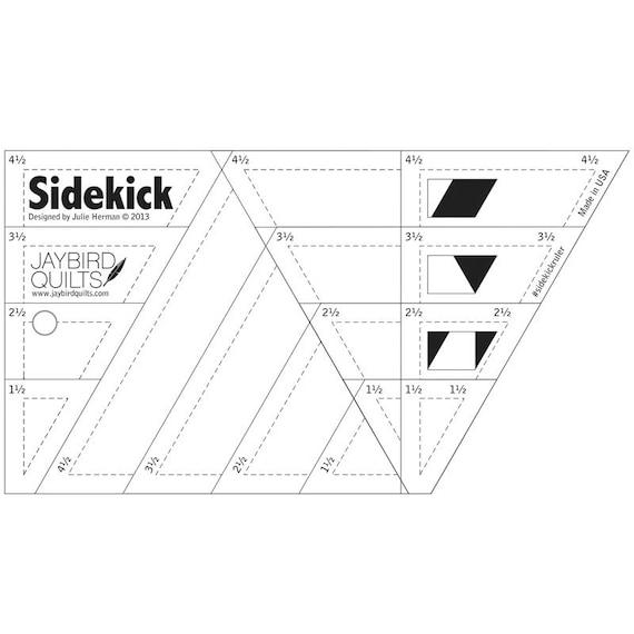 SIDEKICK Ruler - Jaybird Quilts - Diamonds Ruler - 60 Degree ... : 60 degree triangle quilting ruler - Adamdwight.com