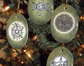Set of Four Magical Symbols, Collection II, Yule/Winter Solstice Ornaments