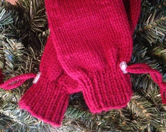 Adaptive Mittens for Special Needs Youth, Dark Red, Adaptive Clothing