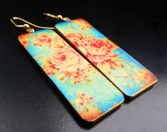 Shabby chic  polymer clay earrings