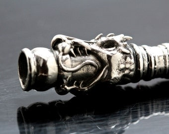 Special listing for Linda Dragon Cigarette Holder sterling silver NYC