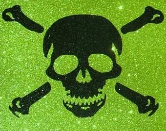 Poison Skull & Crossbones Glitter Art ~CLEARANCE~