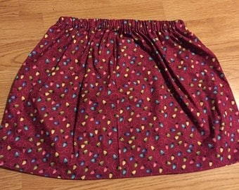 Christmas holidat lights skirt in girls size 6 rts
