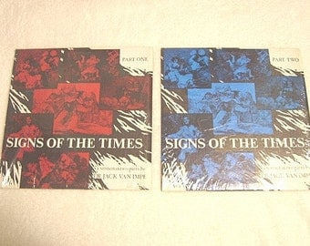 """Vintage Jack Van Impe """"Signs of the Times"""" Part One & Part 2 Records"""