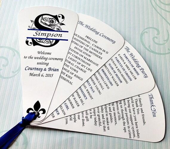wedding program fans petal fan wedding fan split monogram by 4