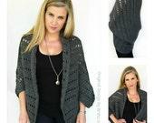 Crochet Cardigan Pattern - Oversized Chunky Shrug Crochet Pattern No.920 Digital Download PDF Beginner Pattern