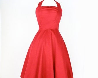 Red Pinup Full Circle  Dress