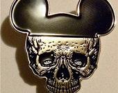 satan as MICKEY skull MouSE death head enamel pin
