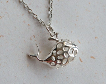 Whales Necklace  (N365) in silver color
