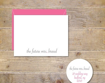 Bridal Shower Thank You Cards, Future Mrs, Soon To Be Mrs, Bridal Shower, Thank You Cards, Affordable Wedding