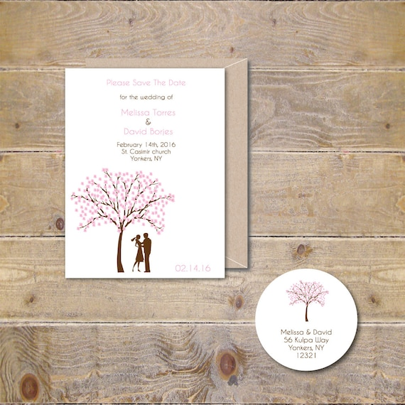 Cherry Blossom Save The Dates, Cherry Tree Save The Dates, Wedding Save the Dates, Outdoor Weddings, Rustic Wedding Save The Dates