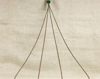 Antique Rug Beater , Antique , Wall Decor , Large Wire , Rug Beater , Green Wood Handle , Domestic Tool , Carpet Beater , Carpet Cleaner