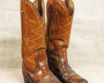 Mens Cowboy Boots , Size 9 Boots , Western Wear , Worn in Cowboy Boot , Rustic Wear , Cowboy , Boot , Mens Boots , Footwear , Rodeo Boot