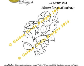 Flowers - Crewel PDF Hand Embroidery Pattern