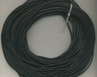 4  mm Leather Cord Black, 10 M Hank for leather cord necklaces, bracelets