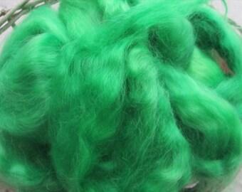 Emerald Mohair Top Roving