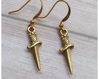 Knife Dagger Athame earrings