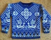 Five Year Viking Ship Sweater