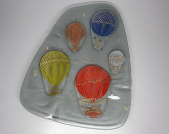 Higgins Glass Hot Air Balloon Ashtray - largest size