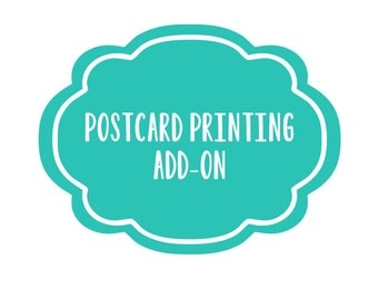 Postcard printing / Double-sided printing for postcards no envelopes