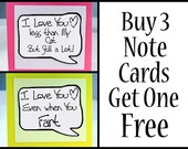 Small Magnet Speech Bubble  Note Card Sale from Kat n' Drew Cards