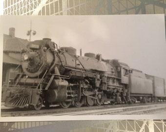 C.N. 2-8-2 # 3713 Burlington Ontario circa 1954. Locomotive photo Hutchinson and Matthews Colkection.