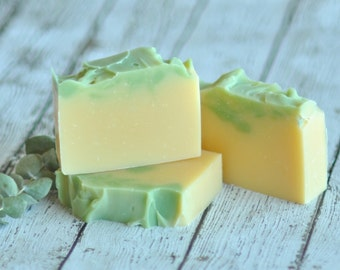 Lemongrass Soap - Lime Eucalyptus Soap -  Organic Shea Butter Soap -  Natural Soap - Bamboo