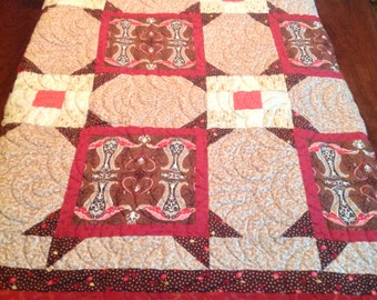 Queen quilt in Swiss Chocolate by Amanda Murphy