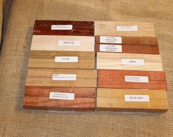 Wood Pen Blanks for Sale, 10 Varieties, 20 Pen Turning Blanks, C65