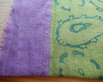 Linen Napkins, Hand Printed, Set of 2